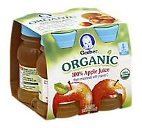 Gerber 100% Apple Juice Organic - 4-4 Fl. Oz.