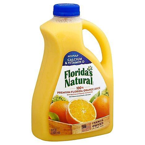 Floridas Natural Juice Orange No Pulp with Calcium Chilled - 89 Fl. Oz.