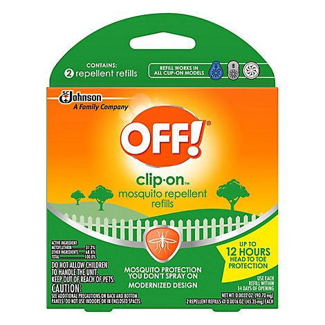 OFF! Clip-On Mosquito Repellent Refills - 2 Count