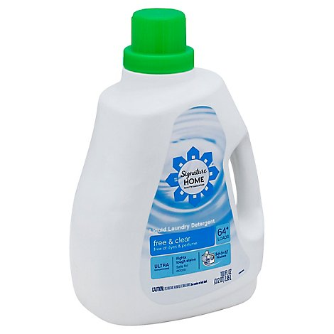Signature SELECT/Home Detergent Laundry Liquid Ultra Concentrated Free & Clear Jug - 100 Fl. Oz.