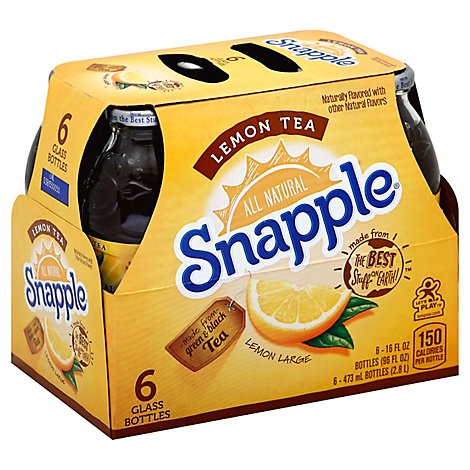 Snapple Iced Tea Lemon - 6-16 Fl. Oz.