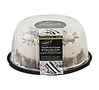 Cake Ice Cream 8 Inch Chocolate Cake Van Iced - 40 Oz