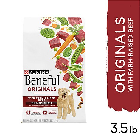 Beneful Dog Food Originals With Real Beef Bag - 3.5 Lb