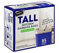 Signature SELECT/Home Garbage Bags Drawstring Tall Kitchen Odor Control 13 Gallon - 85 Count