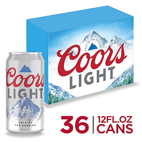 Coors Light Beer Lager 4.2% ABV In Can - 36-12 Fl. Oz.