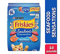 Friskies Cat Food Dry Seafood Sensations Seafood - 16 Lb