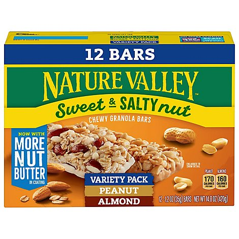 Nature Valley Granola Bars Sweet & Salty Nut Value Pack - 12-1.2 Oz