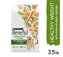 Purina Beneful Dog Food Dry Healthy Weight With Real Chicken Bag - 56 Oz