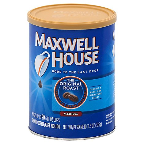 Maxwell House Coffee Ground Medium The Original Roast - 11.5 Oz