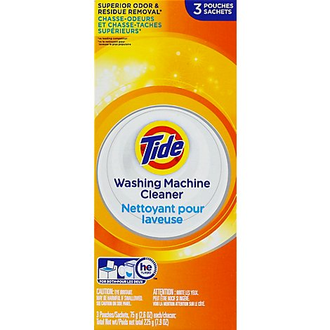 Tide Washing Machine Cleaner HE Odor Remover Box - 3 Count