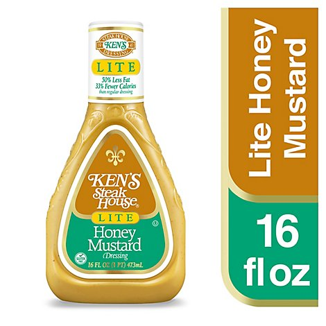 Kens Steak House Dressing Lite Honey Mustard - 16 Fl. Oz.