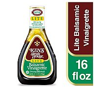Kens Steak House Dressing Lite Balsamic Vinaigrette - 16 Fl. Oz.