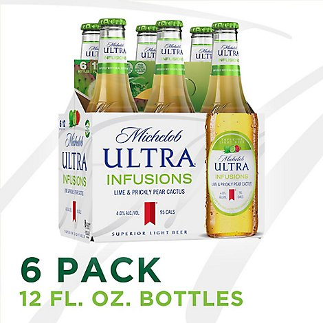 Michelob Ultra Lime Cactus Bottle - 6-12 Fl. Oz.