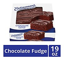 Entenmanns Iced Cake Chocolate Fudge - 19 Oz