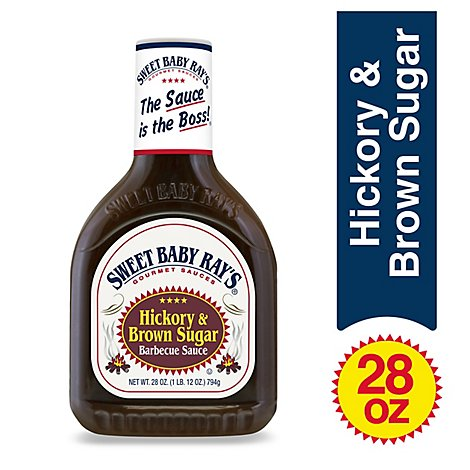 Sweet Baby Rays Sauce Barbecue Hickory & Brown Sugar - 28 Oz