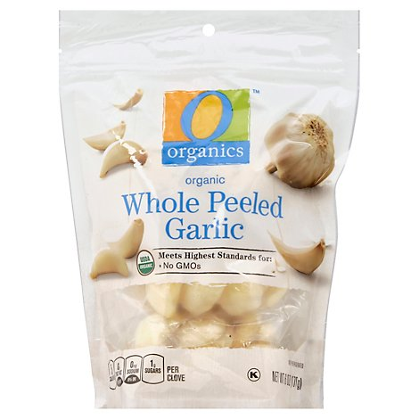 O Organics Organic Whole Peeled Garlic - 6 Oz