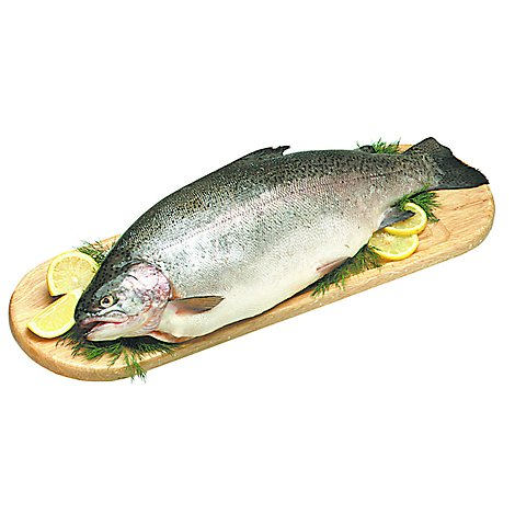 Seafood Service Counter Fish Trout Rainbow Whole Fresh Kosher - 0.75 LB