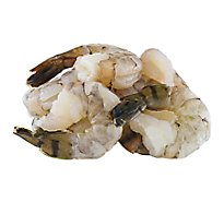 Seafood Service Counter Shrimp Raw 31-40 T-On Peeled & Deveined Previously Frozen - 0.75 LB