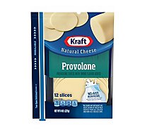 Kraft Natural Cheese Provolone 12 Slices - 8 Oz