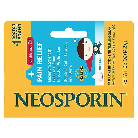 Neosporin First Aid Antibiotic Cream For Kids Pain Relief - .5 Oz