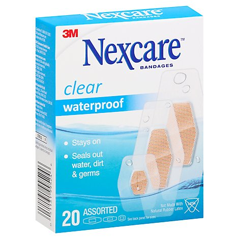 Nexcare Bandages Waterproof Assorted - 20 Count