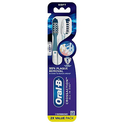 Oral B Cross Action Toothbrush All In One Soft - 2 Count