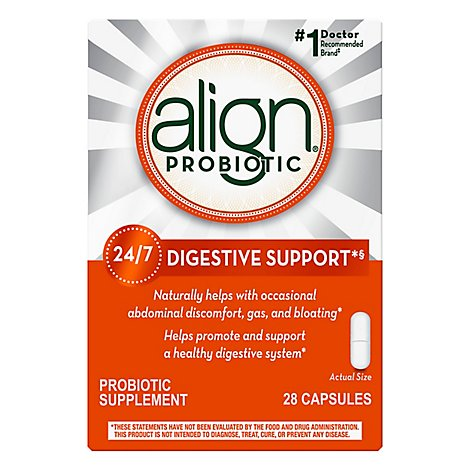 Align Probiotic Supplement Capsules Digestive Support - 28 Count
