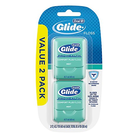 Oral-B Glide Pro Health Floss Comfort Plus Mint Value 2 Pack - 3 Count