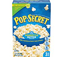 Pop Secret Microwave Popcorn Premium HomeStyle Pop-and-Serve Bags - 3-3.2 Oz