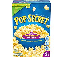 Pop Secret Microwave Popcorn Premium Movie Theater Butter Pop-and-Serve Bags - 3-3.2 Oz