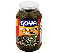 Goya Tender Cactus Nopalitos Jar - 30 Oz