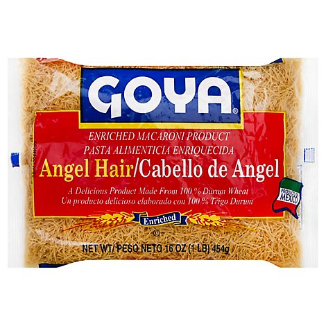 Goya Pasta Enriched Angel Hair Bag - 16 Oz