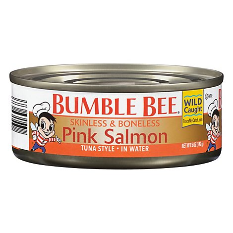 Bumble Bee Salmon Pink Skinless & Boneless Tuna Style in Water - 5 Oz