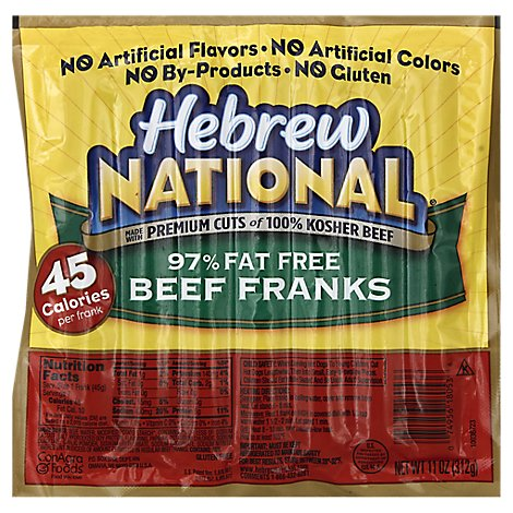 Hebrew National Beef Franks 97% Fat Free - 11 Oz