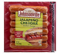 Johnsonville Sausage Jalapeno & Cheddar Cheese Smoked Sausage Fully Cooked 6 Links - 14 Oz