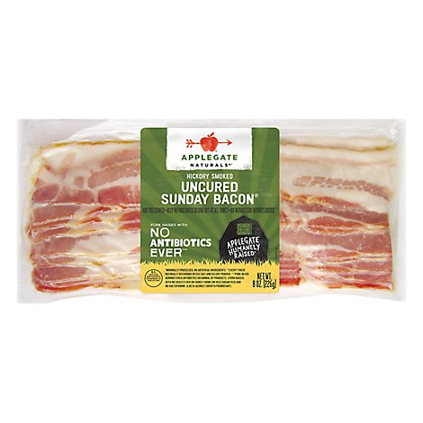 Applegate Natural Uncured Sunday Bacon - 8oz