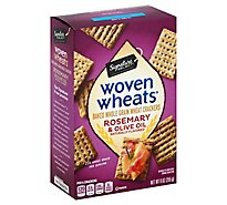 Signature SELECT Woven Wheats Crackers Rosemary & Olive Oil - 9 Oz