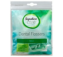 Signature Care Dental Flossers High Performance Mint - 90 Count