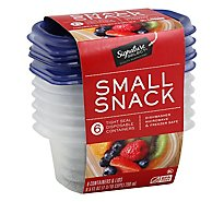 Signature SELECT/Home Containers Storage Small 1.187 Cup Tight Seal BPA Free - 6 Count