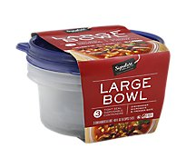 Signature SELECT Containers Storage Tight Seal BPA Free Large 6 Cups - 3 Count