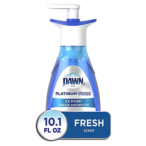 Dawn Ultra Platinum Dish Foam Erasing Fresh Rapids Scent Bottle - 10.1 Fl. Oz.