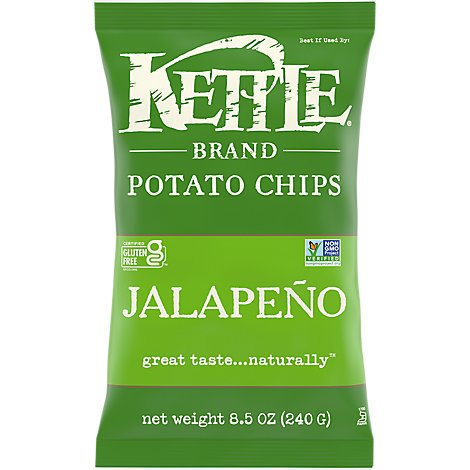 Kettle Potato Chips Hot! Jalapeno - 8.5 Oz