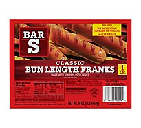 Bar-S Franks Bun Length Classic - 16 Oz