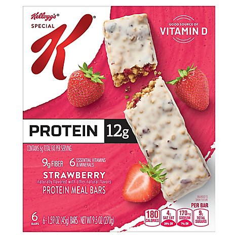 Special K Protein Meal Bars Strawberry 6 Count - 9.5 Oz