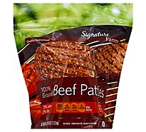 Signature Farms Ground Beef Hamburger Patties 73% Lean 27% Fat 10 Count - 40 Oz.