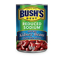 BUSHS BEST Beans Kidney Dark Red Reduced Sodium - 16 Oz