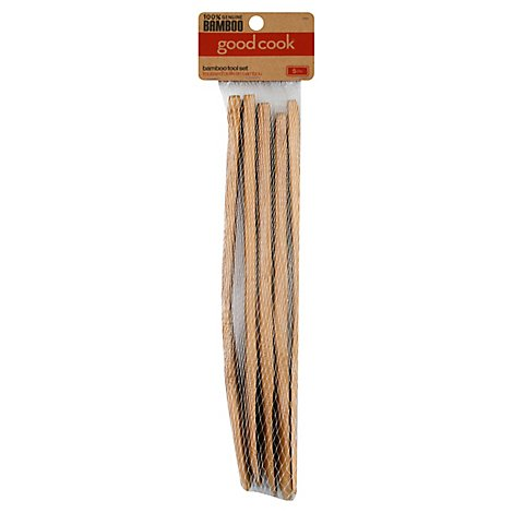 Good Cook 5 PC Bamboo Tool Set - Each