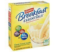 Carnation Breakfast Essentials Powder Drink Mix Classic French Vanilla - 10-1.26 Oz