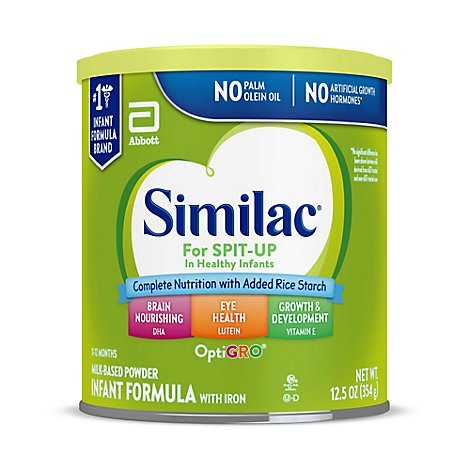 Similac For Spit Up Infant Formula Milk Based Powder With Iron - 12 Oz