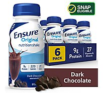 Ensure Original Nutrition Shake Ready To Drink Dark Chocolate - 6-8 Fl. Oz.